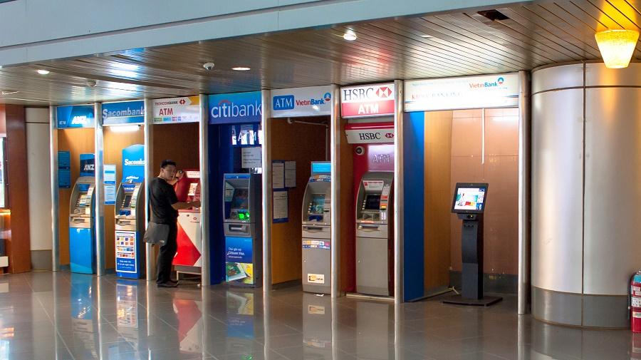 Dịch vụ ngân hàng và ATM Trong Nội Bài Airport